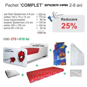 Pachet Promo Complet Start Spiderman 2-8 ani