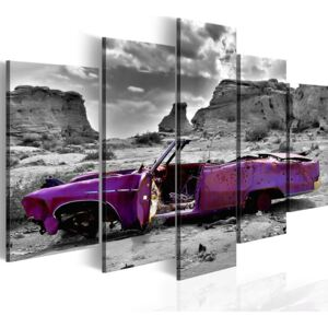 Tablou Bimago - Retro car at Colorado Desert - 5 pieces 100x50 cm