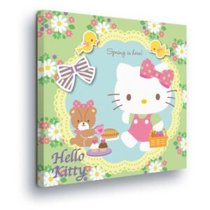 GLIX Tablou - Flower Decoration with Hello Kitty 40x40 cm