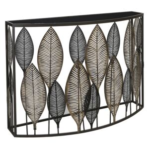 Consola PALM LEAVES, metal sticla, 102x76x30.5 cm