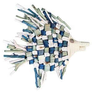 Decoratiune FISH, lemn, 45x50x5 cm