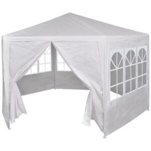 42346 Marquee with 6 Side Walls White 2x2 m