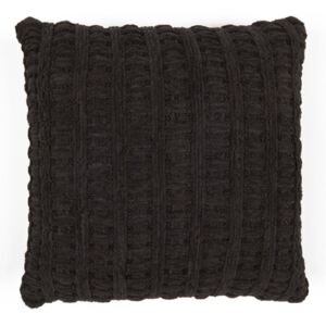 Perna decorativa patrata neagra din poliester 40x40 cm Ethans LifeStyle Home Collection