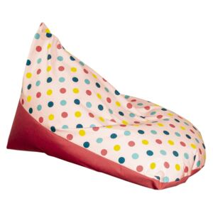 Puf bean bag dots roz impermeabil