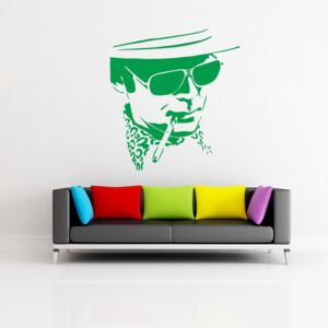 GLIX Hunter S. Thompson - autocolant de perete Verde deschis 50 x 55 cm