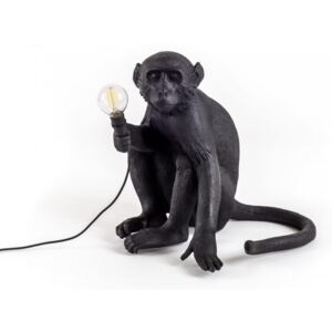 Lampa neagra 34×30cm The Monkey Sitting Seletti