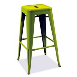 Scaun de bar metalic Long, verde, 31x31x76 cm lxAxh
