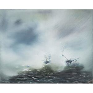 Discovery Clearing in sea mist Scott en route to Antarctica January 1902. 2014, Reproducere, Vincent Alexander Booth