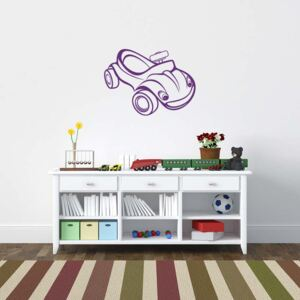 GLIX Little car - autocolant de perete Mov 90 x 65 cm