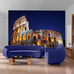 Fototapet Bimago - Colloseum at night + Adeziv gratuit 250x193 cm