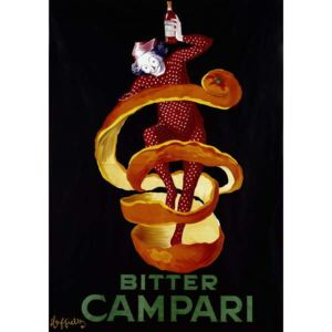 Cappiello, Leonetto - Poster for the aperitif Bitter Campari. Illustration by Leonetto Cappiello 1921 Paris, decorative arts Reproducere
