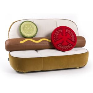 Canapea din poliester si metal 188 cm Hot Dog Studio Job Seletti