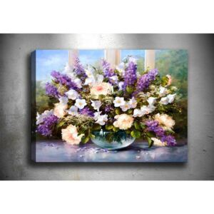 Tablou Tablo Center Purple Flowers, 70 x 50 cm
