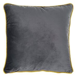 Set 2 perne decorative cu huse detasabile Claris Velvet Gri, 45 x 45 cm
