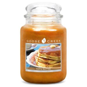 Lumânare parfumată în recipient de sticlă Goose Creek Maple Butter, 150 ore de ardere