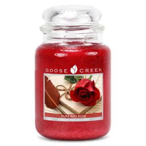 Lumânare parfumată în recipient de sticlă Goose Creek Pure Red Rose, 150 ore de ardere