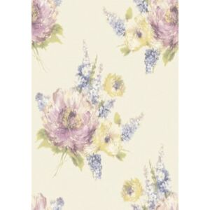 Tapet vinil Grandeco Painterly, PY2099, multicolor, model floral, 10 x 0.53 m