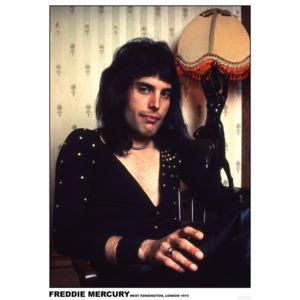 Freddie Mercury - London 1974 Poster, (59,4 x 84 c