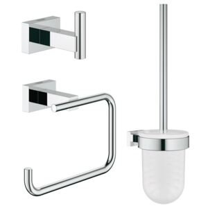 Set accesorii 3 in 1 City restroom Grohe Essentials Cube