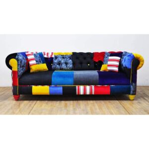 Sofa Chesterfield Patchwork - Jean Patch