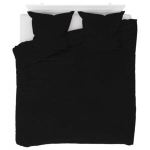 Set husă pilotă negru 200 x 200/80 x 80 cm fleece