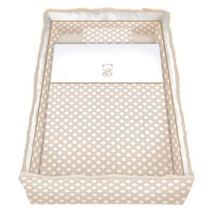 Set lenjerie cu broderie 7 piese Lily Beige Circles
