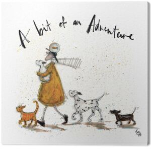 Tablou Canvas Sam Toft - A Bit of an Adventure, (30 x 30 cm)