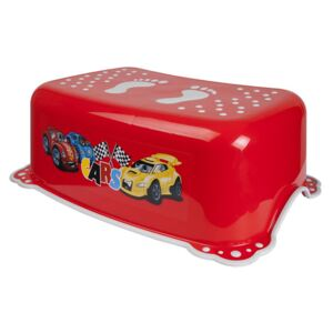 Taburet copii MyKids Cars Red Gray antialunecare