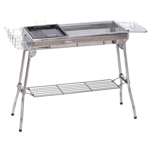 Outsunny Barbecue pe Carbune Pliabil Portabil in Otel 104x33x70cm