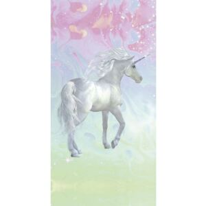 Prosop de plajă cu imprimeu Good Morning Unicorn, 75 x 150 cm