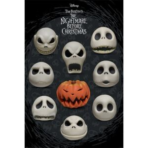 Nightmare Before Christmas - Many Faces of Jack Poster, (61 x 91,5 cm)