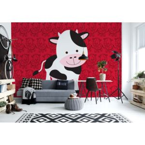 Fototapet GLIX - Happy Cartoon Cow + adeziv GRATUIT Tapet nețesute - 416x290 cm