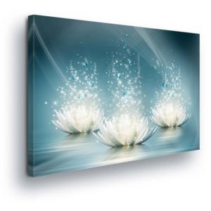 GLIX Tablou - Diamond Water Lilies 100x75 cm