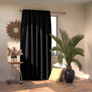 Perdea Amelia Home - Pleat Black 1 buc