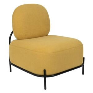 Fotoliu galben Lounge Chair Polly Yellow