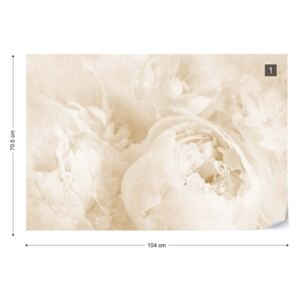 Fototapet - Beautiful Blooms Faded Vintage Sepia Tapet nețesute - 104x70,5 cm