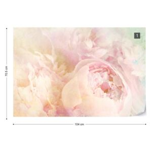 Fototapet - Beautiful Blooms Faded Vintage Tapet nețesute - 104x70,5 cm