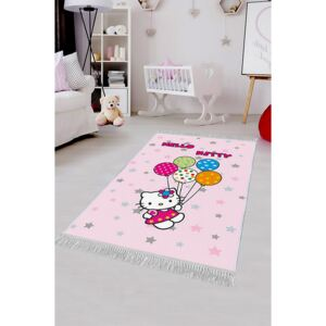 COVOR ANTIDERAPANT, DREPTUNGHIULAR,120X180, KIDS, HELLO KITTY BALLOONS, MULTICOLOR, POLIESTER