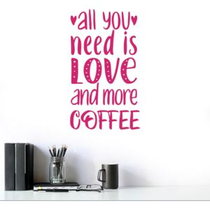 All you need is coffee - autocolant de perete Roz 50x30 cm