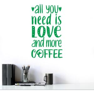 All you need is coffee - autocolant de perete Verde 50x30 cm