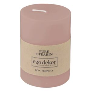 Lumânare Eco candles by Ego dekor Friendly, durată ardere 37 h, roz pudrat