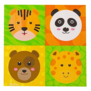 Set 16 șervețele din hârtie GiviItalia Zoo Party, 33 x 33 cm