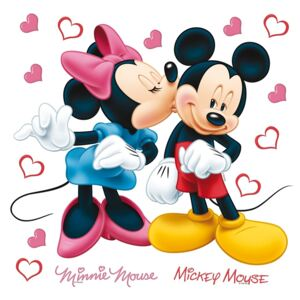 Decorațiune autocolantă Minnie & Mickey, 30 x 30 cm