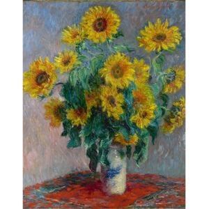 Reproducere tablou Claude Monet - Bouquet of Sunflowers , 50x40 cm
