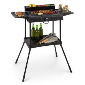 Klarstein Dr. Beef Pro, grill electric, 2000W, grătar antiaderent, mese laterale