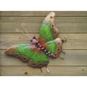 Figurina metal Butterfly green small