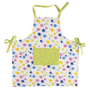 Sort din bumbac, Apron Bubbles Multicolor, l80xH85 cm