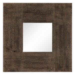 Oglinda decorativa patrata 90x90cm Dots Mirror Old Gold Square | IXIA