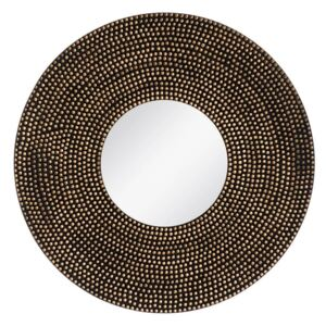 Oglinda decorativa rotunda Ø 90cm Dots Mirror Old Gold