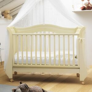 Patut Tulip Baby cu laterala detasabila Ivory Antique